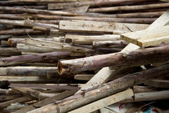 Pile of  old used wood Royalty Free Stock Photo
