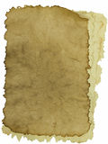 Pile of old vintage papers isolated on white background Royalty Free Stock Photos