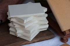 Pile of old withe paper Stock Photography