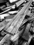 Pile of Old Wooden Boards Royalty Free Stock Photography