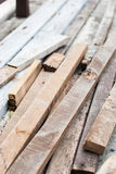 Pile of old wooden for recycling Royalty Free Stock Photos