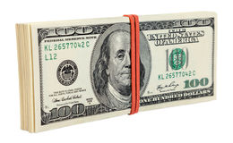 Pile of one hundred dollar bills Stock Image
