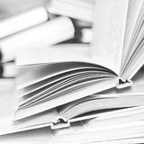 A pile of open books Royalty Free Stock Photos