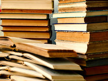 Pile of open books. Lying on each other Stock Image
