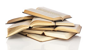 Pile of open books Stock Photos