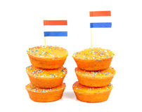 Pile of Orange cake cookies Stock Photos