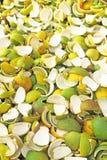 Pile of orange peelings india. Pile of orange peelings on cart Stock Image