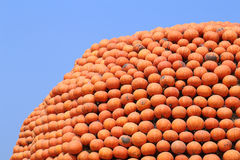 Pile of orange pumpkins stack Stock Photo