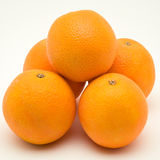 Pile of oranges. On a white backgorund stock images