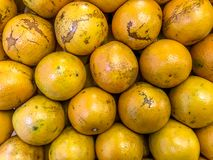 Pile of oranges. Oranges in marget arranged in pile stock image