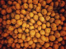 Pile of oranges. Top view of pile oranges with vignette stock photography