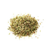 Pile of oregano seasoning isolated Stock Image