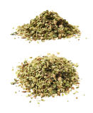 Pile of oregano seasoning isolated Royalty Free Stock Photos