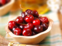 Pile of organic cherries Royalty Free Stock Image