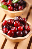 Pile of organic cherries Royalty Free Stock Photo