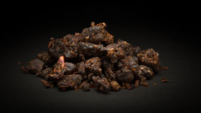 Pile of Organic Indian bdellium (Commiphora wightii) Royalty Free Stock Images