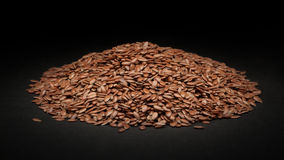 Pile of Organic Linseed (Linum usitatissimum) Stock Photos