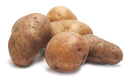 Pile of organic raw potatoes Royalty Free Stock Image
