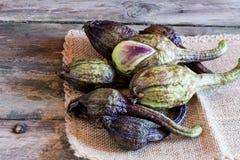 Pile of organic ripe eggplant Brinjal. Stock Photos