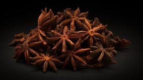 Pile of Organic Star anise (Illicium verum) Stock Photos