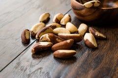 Pile organique crue de noix du brésil sans Shell photographie stock