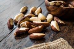 Pile organique crue de noix du brésil sans Shell photo stock