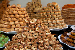 A pile of oriental sweets. Royalty Free Stock Photo