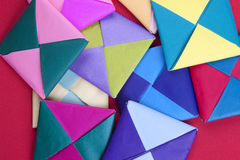 Pile of origami designs. Royalty Free Stock Images