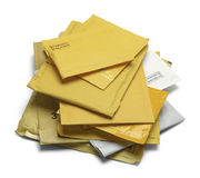 Pile of Padded Envelopes Stock Photo