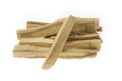 Pile of palo santo or holy wood sticks isolated on white background Royalty Free Stock Photos