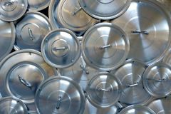 Pile of Pan Caps Royalty Free Stock Photography