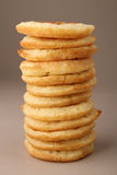 Pile of pancake. Isolated on gray background Stock Image