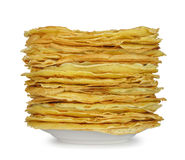Pile of pancakes Stock Photos