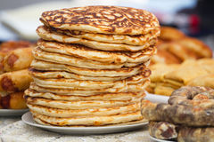 Pile  pancakes Stock Photography