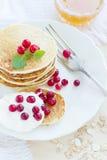 Pile of pancakes Royalty Free Stock Photo