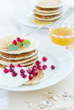 Pile of pancakes Stock Photos