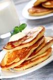 Pile of pancakes Royalty Free Stock Photos