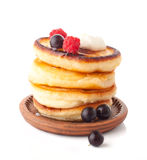 The pile of pancakes Royalty Free Stock Photography