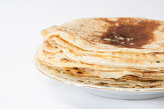 Pile of pancakes on the plate Royalty Free Stock Photo