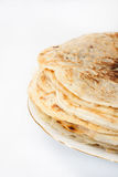 Pile of pancakes on the plate Royalty Free Stock Image