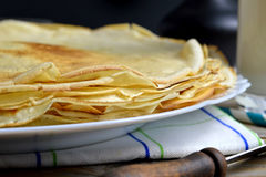 Pile of pancakes Royalty Free Stock Photos