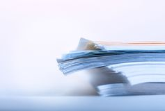 Pile of paper Stock Photography