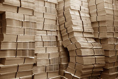 Pile of paper. Big pile of magazine paper Royalty Free Stock Images