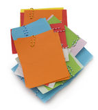 Pile of paper notes Stock Photos