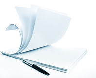 Pile of a paper and pen Stock Image