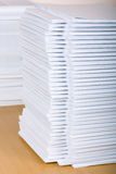 Pile of papers. On the table Royalty Free Stock Image