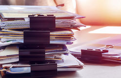 Pile of papers Royalty Free Stock Photography