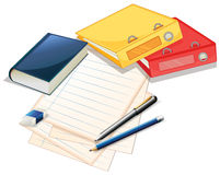 Pile of papers and files Royalty Free Stock Images