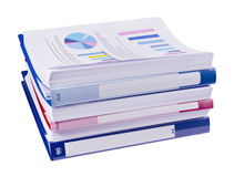 Pile of papers and folders Stock Photo