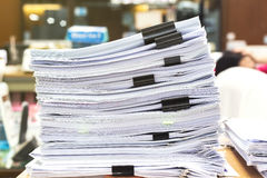 Pile of papers laid overlap Stock Photos